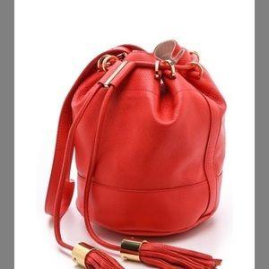 See by Chloe Red Bucket Leather Bag Vicki
